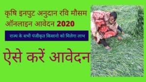 कृषि इनपुट अनुदान रवि मौसम ऑनलाइन आवेदन 2020