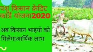 पशु किसानक्रेडिट कार्ड योजना