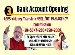 Online Service Portal ,7 Bank ac Open NSDL &UTI PAN Agency