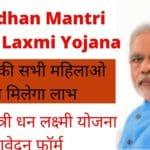 Pradhan Mantri Dhan Laxmi Yojana Online Application Form