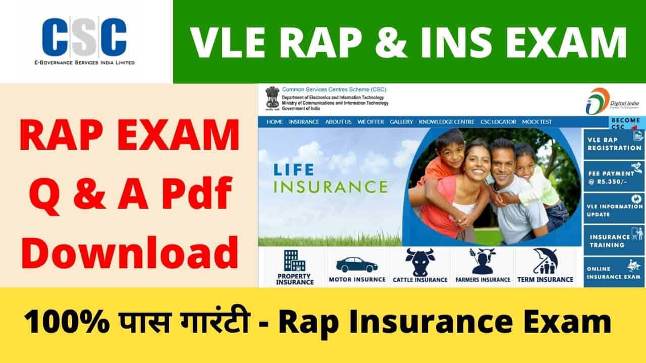 CSC Insurance Rap Exam Question and Answers Pdf