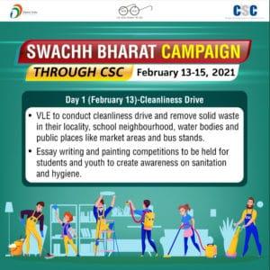Swachh Bharat Campaign Through CSC