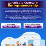 Certificate Course In Entrepreneurship