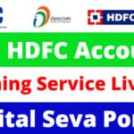 HDFC Account Opening Service On CSC