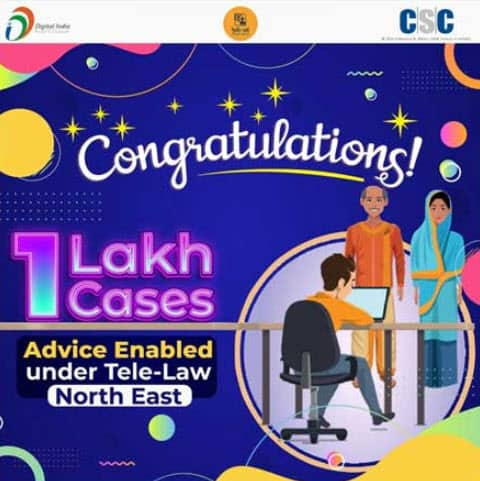 1 Lakh Cases Registered Under Tele-Law in North East