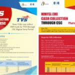 TVS and MMFSL Cash Collection Through CSC