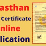 Rajasthan Caste Certificate Online Application