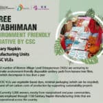 Stree Swabhimaan Environment Friendly Initiative By CSC