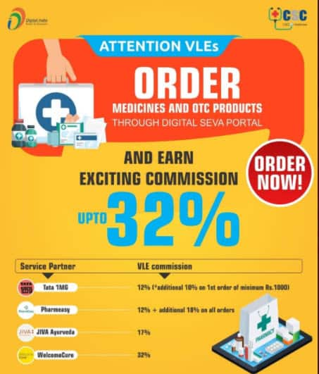 Order Medicines and OTC Products Through Digital Seva