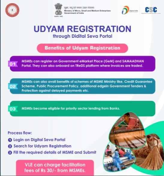 UDYAM REGISTRATION THROUGH DIGITAL SEVA PORTAL